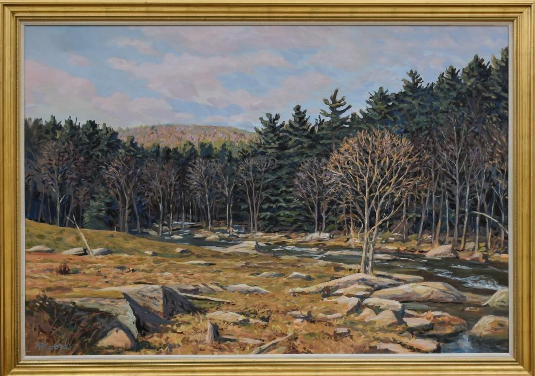 "Moore, Scott, oil on canvas ""Marsh Stream"""