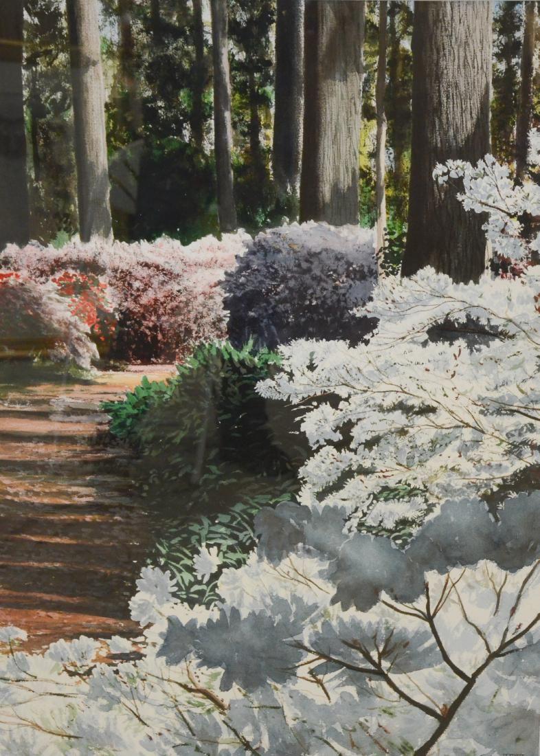 "Newnam, Thomas A., watercolor ""Longwood Path"""