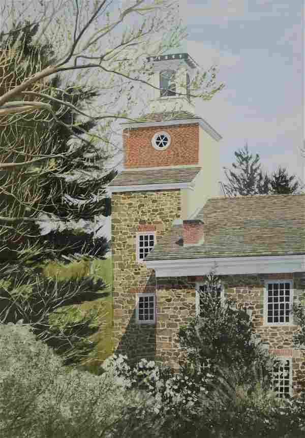"Newnam, Thomas A., watercolor ""Henry Clay Mill, Hagley"""
