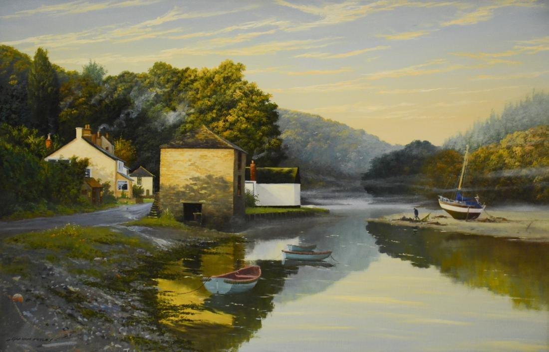 "Petley, Graham, oil on canvas ""Lerryn in Cornwall"""