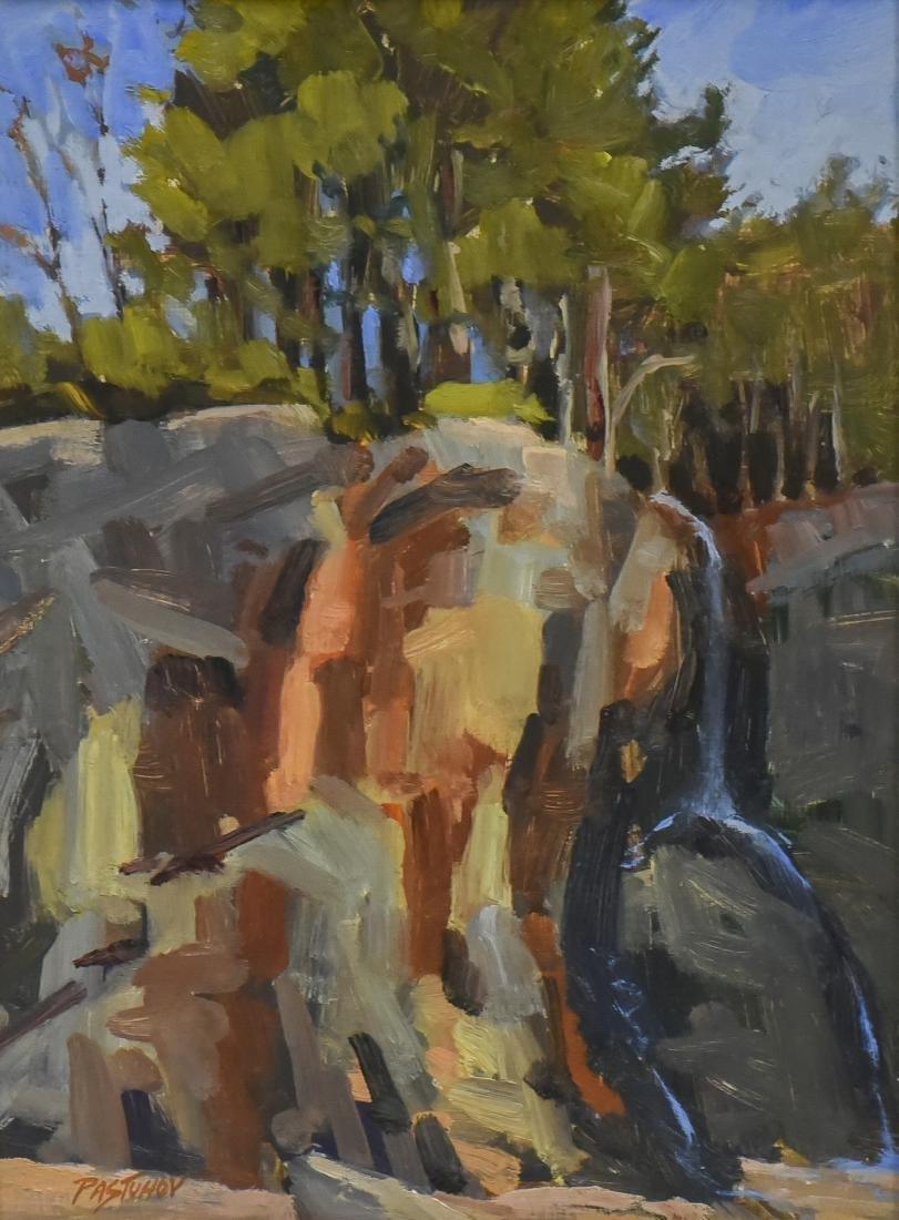 "Pastuhov, Stefan, oil on canvas ""Coastal Cliff"""