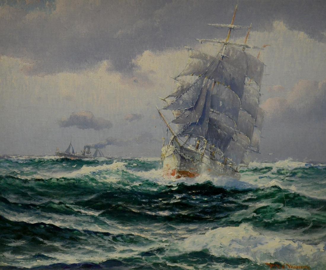 Valenkamph, Theodor Victor Carl, oil on canvas