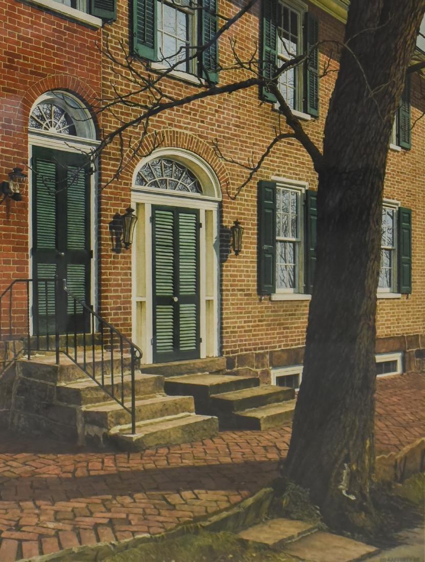 "Rafferty, Ed, watercolor ""Colonial Row Home"""