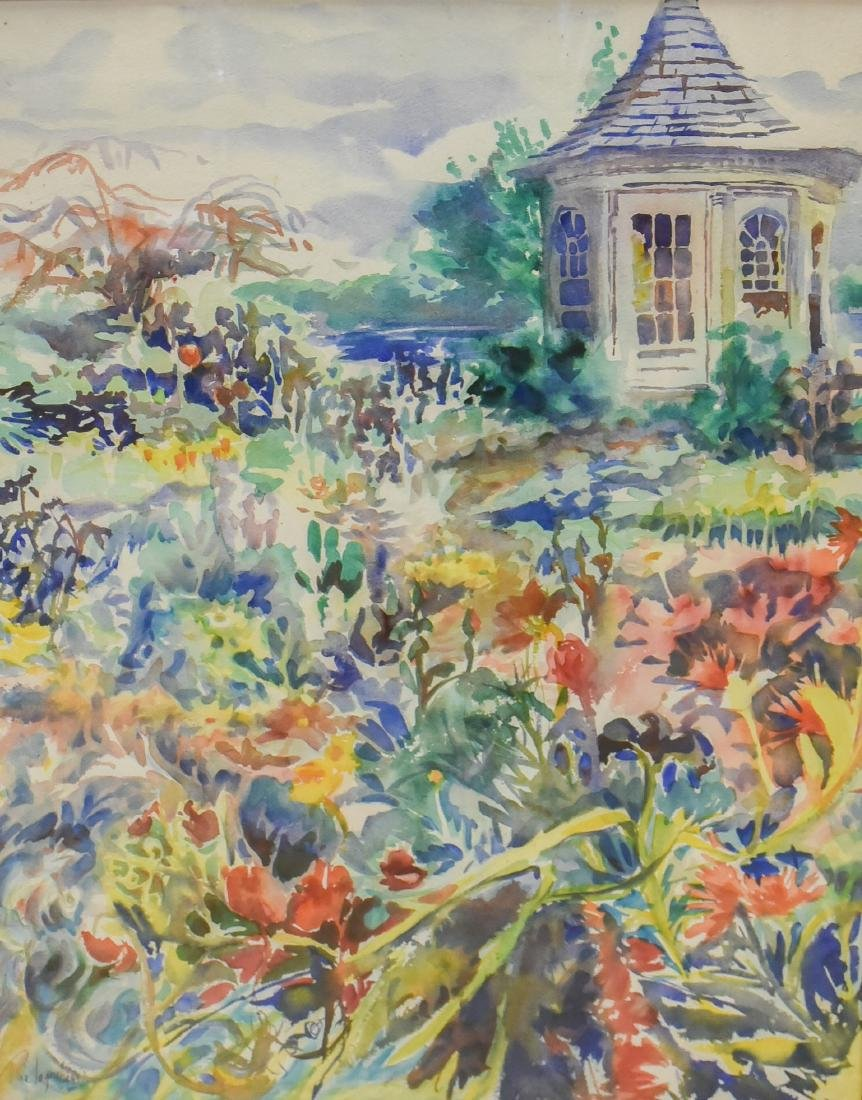 "Ingraham, Tina, watercolor ""Tidebrook Gardens Triptych"