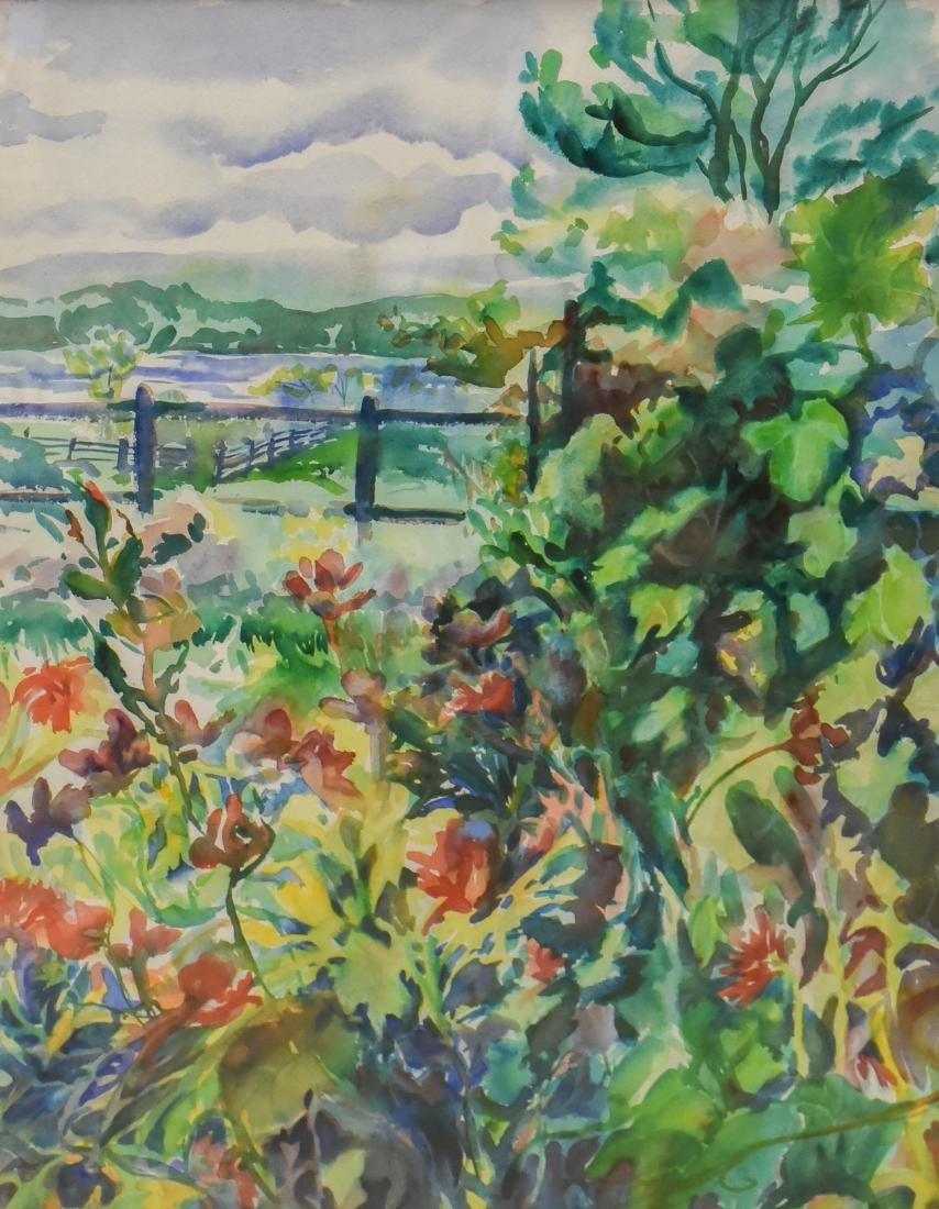 "Ingraham, Tina, watercolor ""Tidebrook Gardens Triptych"