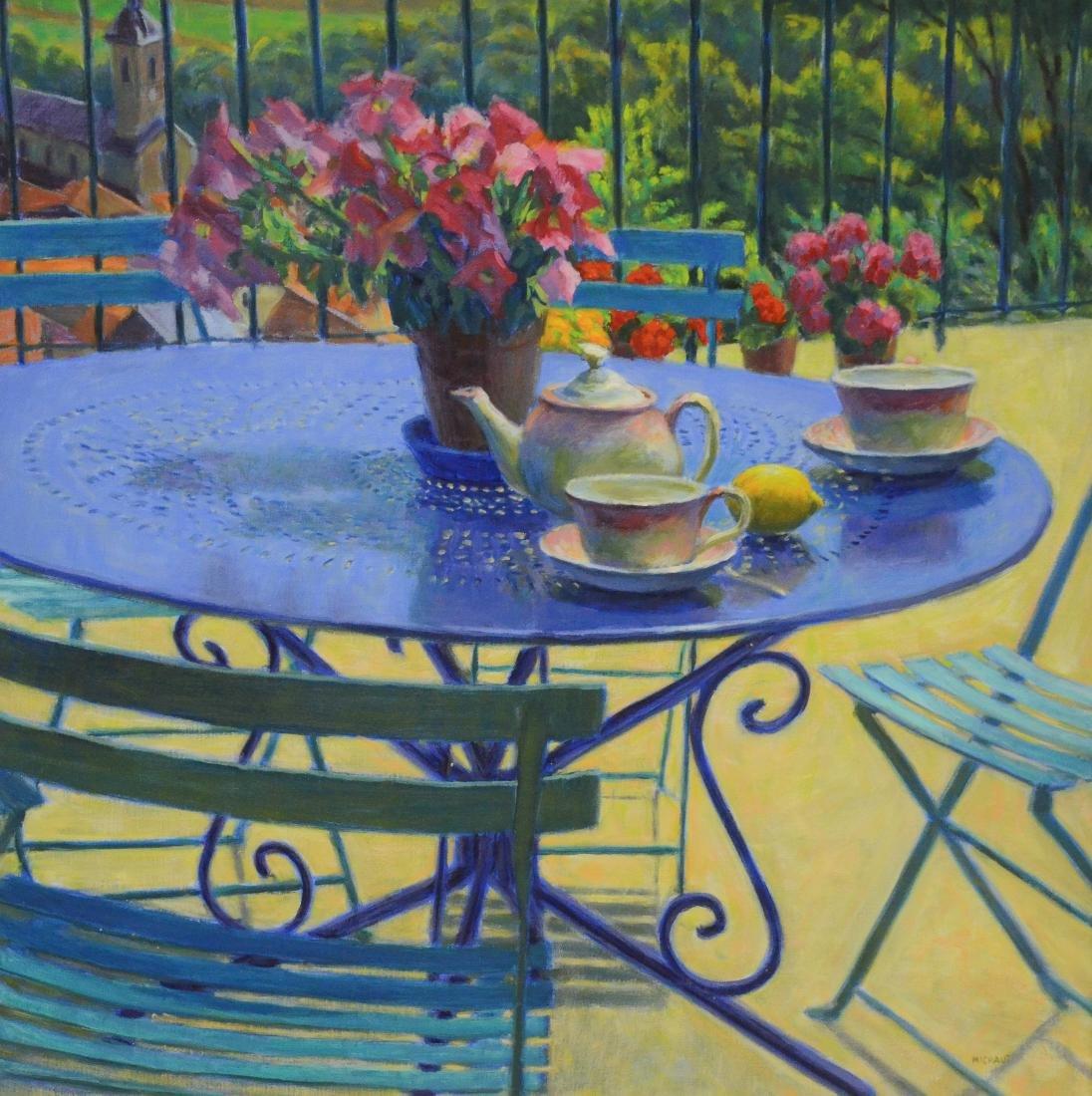 """Michaut, William, oil on canvas """"La Terrasse"""""""