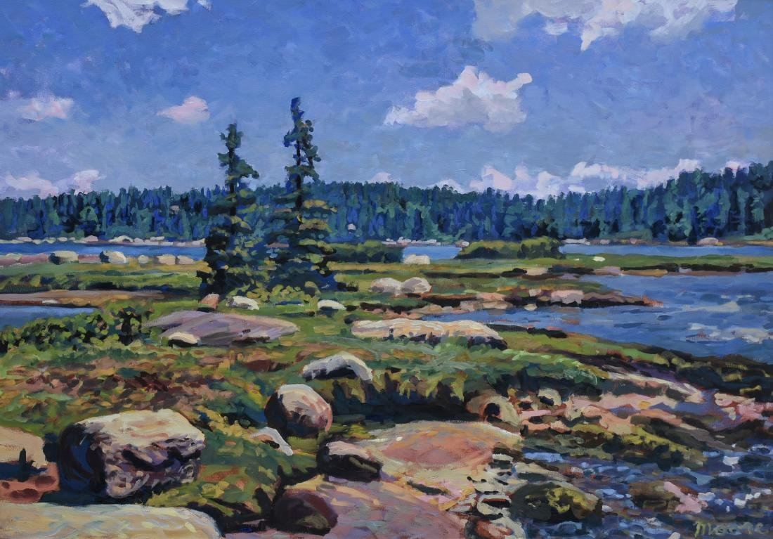 "Moore, Scott, oil on canvas ""Vinalhaven Basin II"""