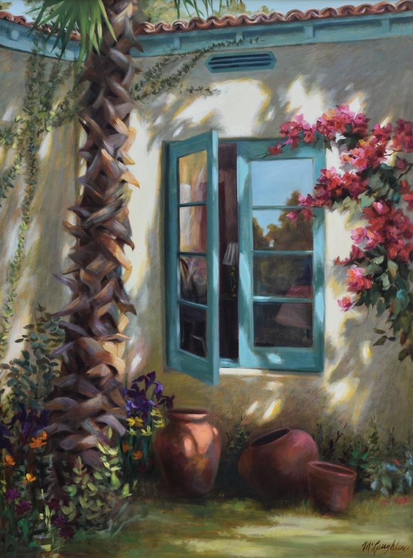 "McLaughlin, Jan, alkyd on canvas ""Window at Royal Palm"""