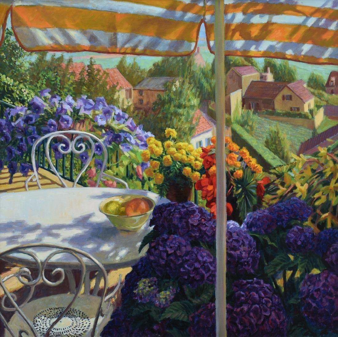 """Michaut, William, oil on canvas """"Under the Umbrella"""""""