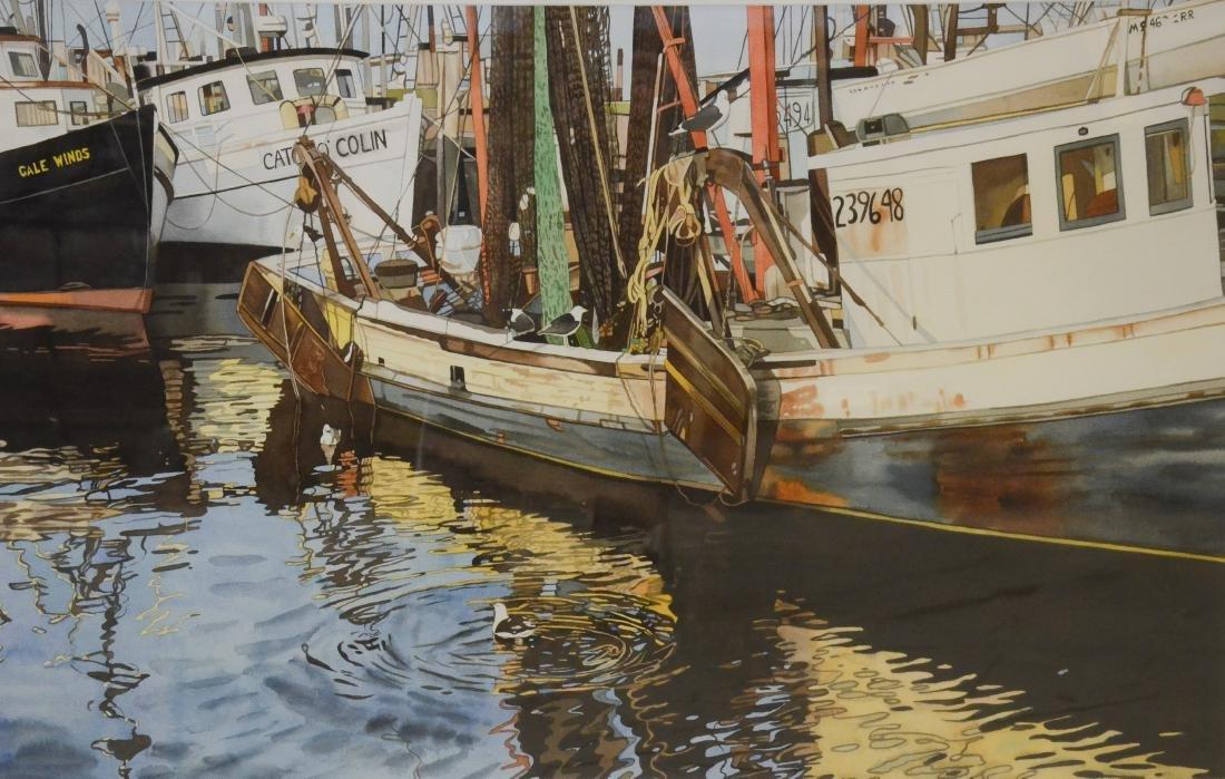 "Rubin, Deborah, watercolor on paper ""Boats and Gulls"""