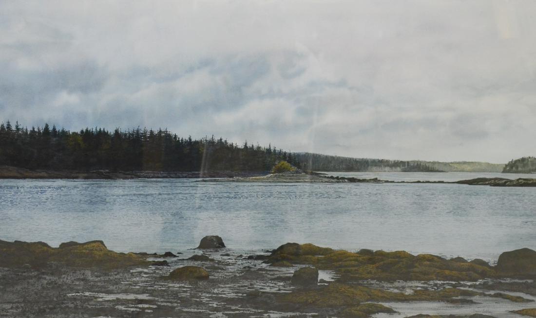 "LeBlanc, Denis, watercolor on paper ""Overcast"""