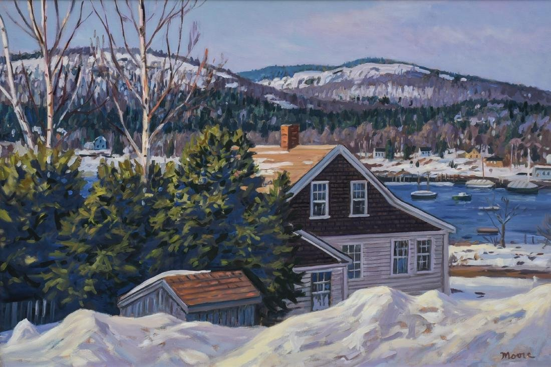 "Moore, Scott, oil on canvas ""View from the Inn II"""