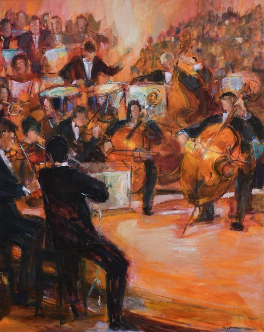 "Conigliano, Conchita, oil on canvas ""L'Orchestre Jaune"""