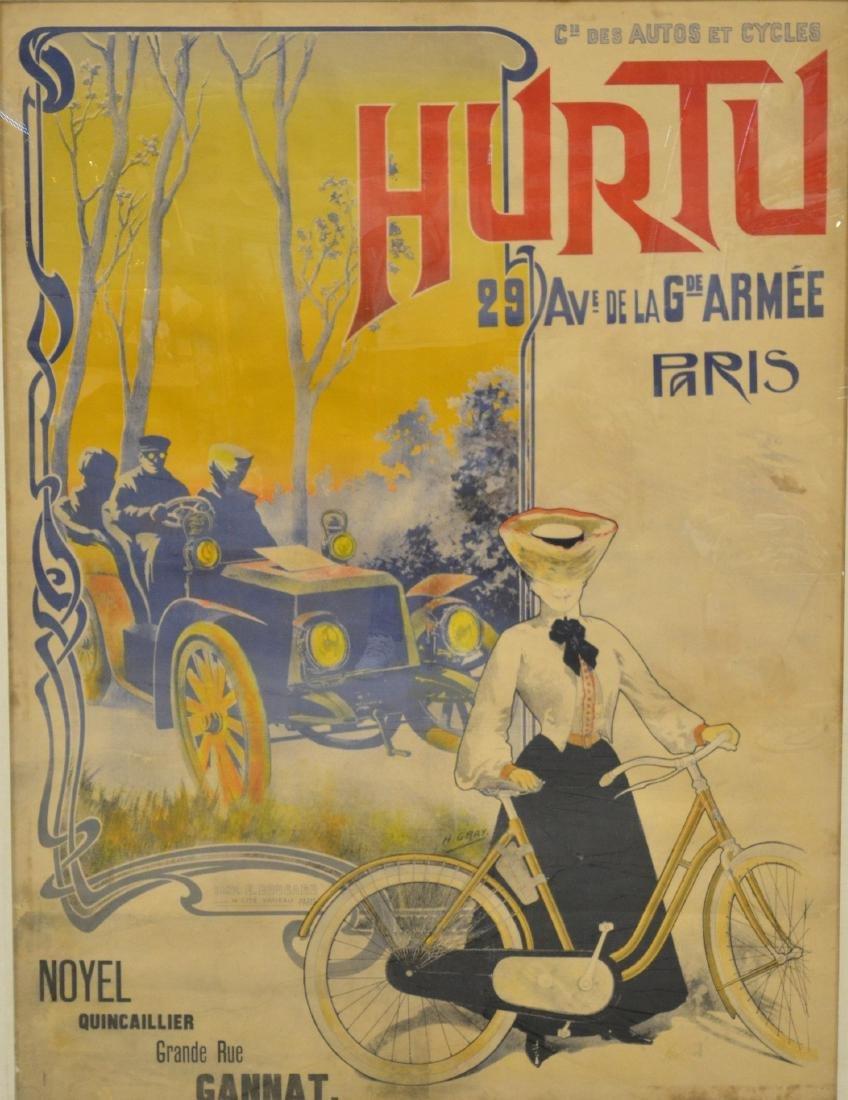 "Gray, H., lithograph poster ""Hurtu, Paris"""