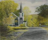 Altman Harold lithograph Church in Lemont