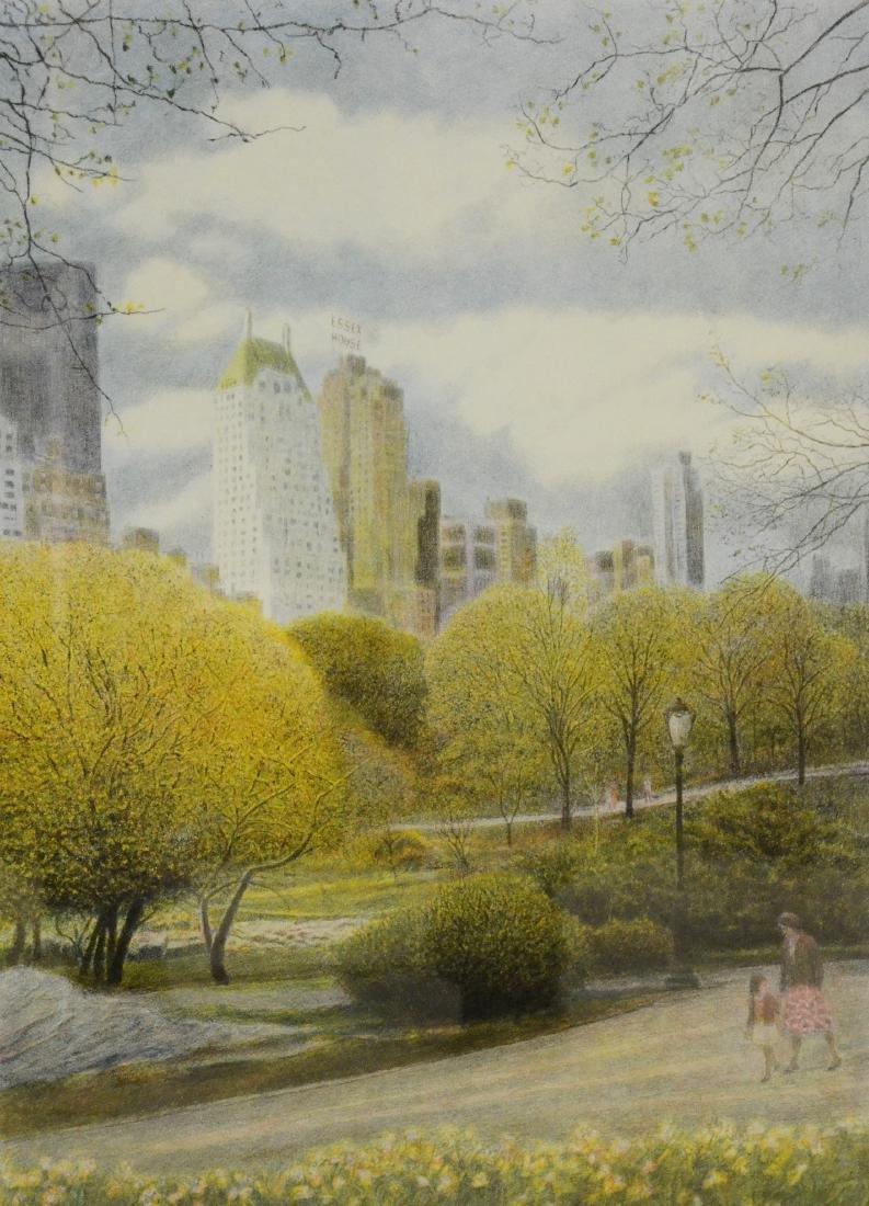 "Altman, Harold, chromolithograph ""Central Park"