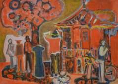 "Tucker, Richard Derby, oil on canvas ""Building &"