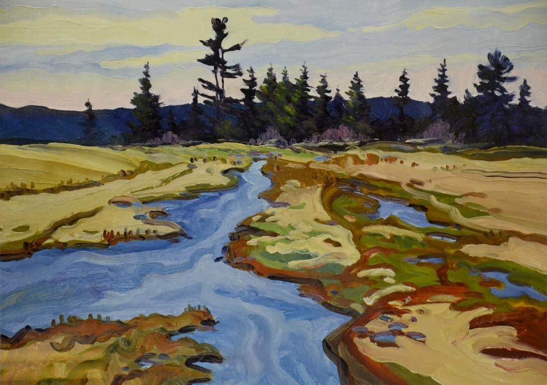 "Peters, Andrea, oil on board ""Wetlands- Spring"""