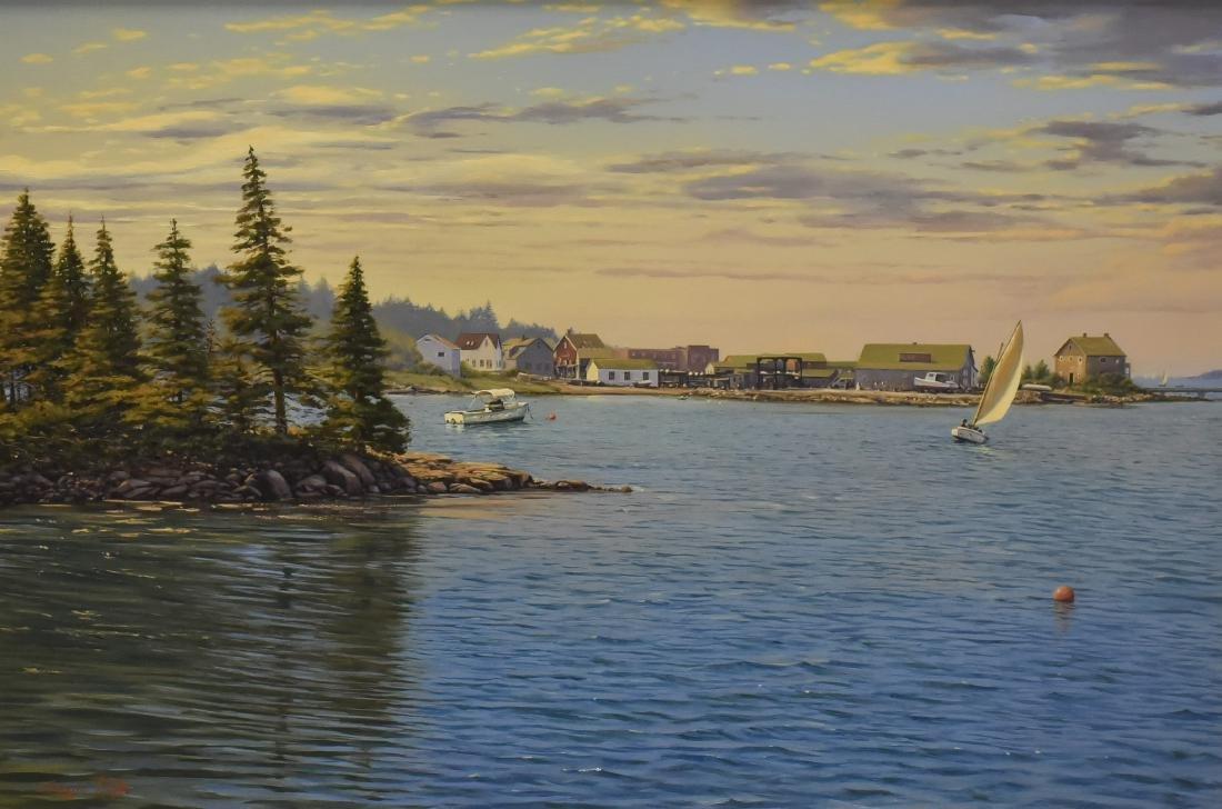 "Roffo, Sergio, oil on canvas ""Southwest Harbor, Mt."