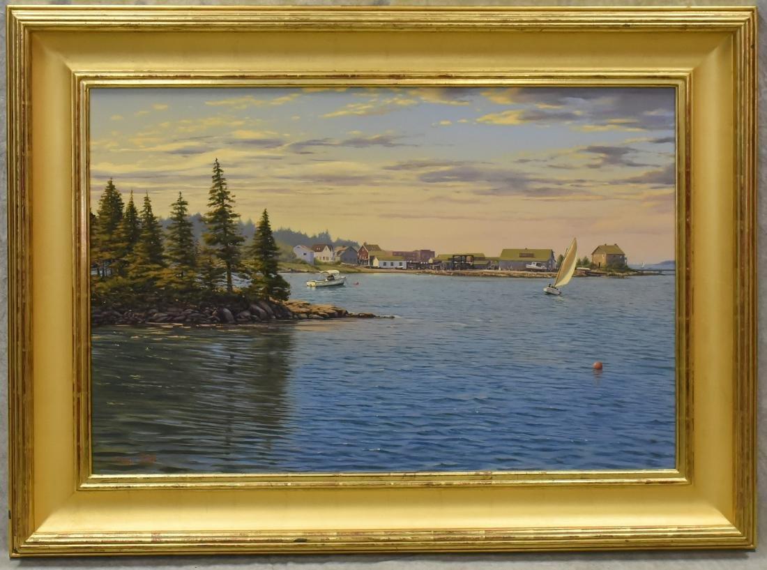 "Roffo, Sergio, oil on canvas ""Southwest Harbor, Mt. - 2"