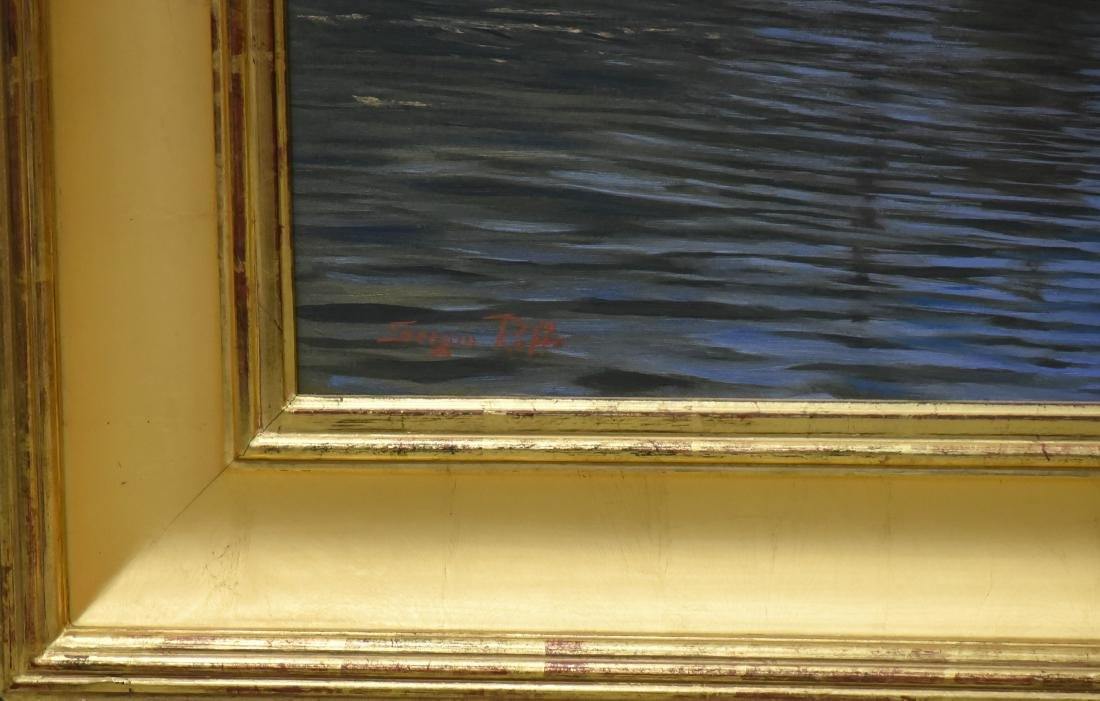 "Roffo, Sergio, oil on canvas ""Southwest Harbor, Mt. - 3"