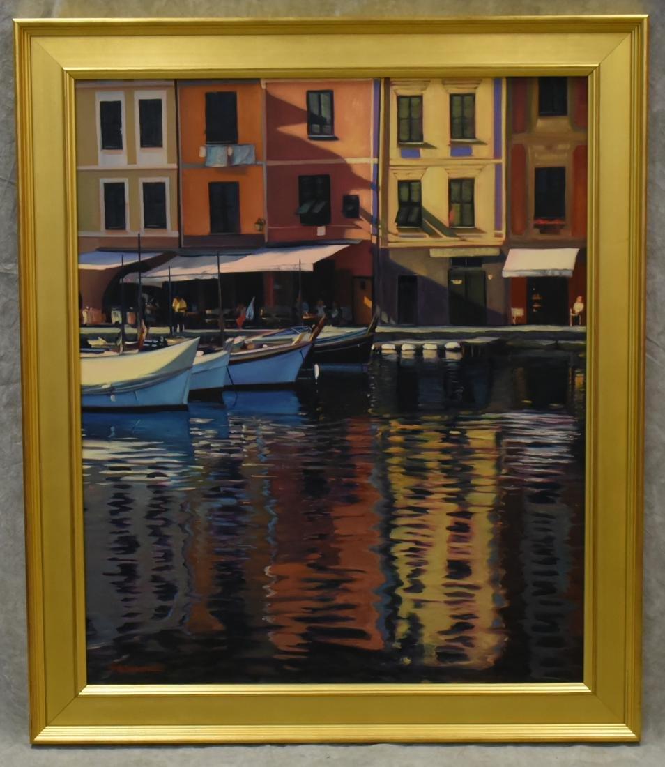 """Swimm, Tom, oil on canvas """"Mediterranean Mirror"""" - 2"""