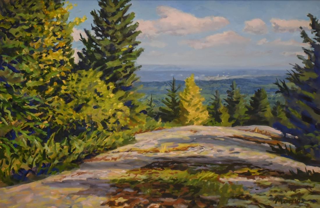 "Moore, Scott, oil on canvas ""View of Bucksport"""