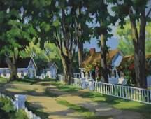 """Tutwiler, Line, oil on canvas """"Summer Cottages"""""""