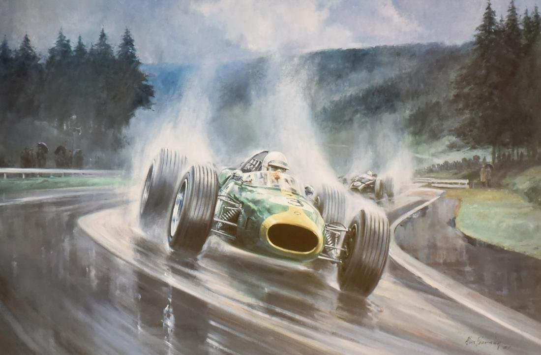 "Alan Fearnley offset lithograph ""Heading for Victory"""