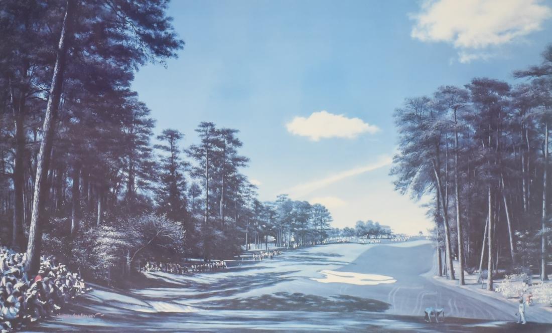 "Simon Stallwood lithograph ""Tenth Hole, Augusta"""