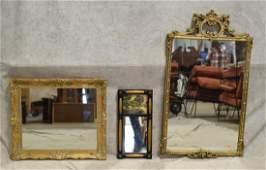 3 hanging wall mirrors