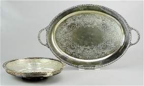 2 Silver Plate Serving Trays
