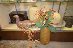Shelf #85 - Aluminum Items, Brass Vase