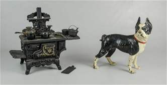 Cast Iron Doorstop and Stove Toy