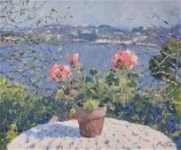Bittar Pierre oil on canvas Fleurs dans un