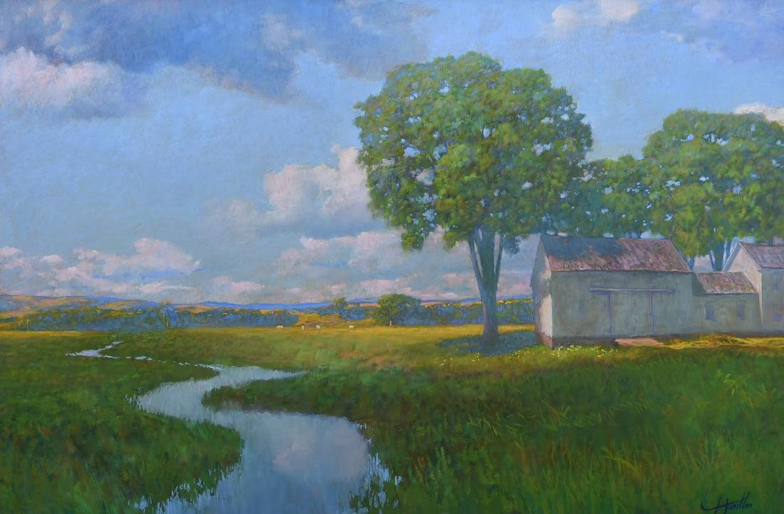 "Handlen, Frank, oil on board ""Early August"""
