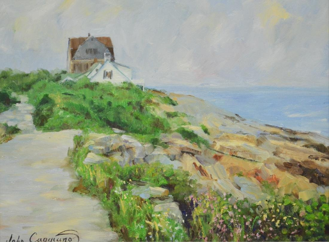 """Caggiano, John, oil on board """"Overlooking the Harbor"""""""