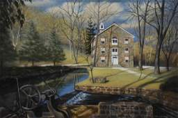 """Huntsberger, James R., oil on canvas """"Henry Clay Mill"""""""