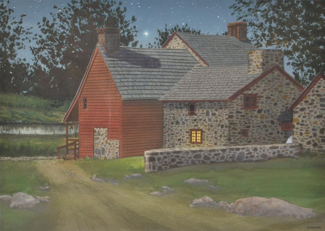 "Newnam, Thomas A., watercolor ""So Near and Yet So Far"""