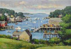 Mosher Donald oil on canvas New Harbor Summer