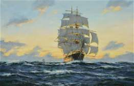 Scott Henry oil on canvas Sunset  Western Pacific