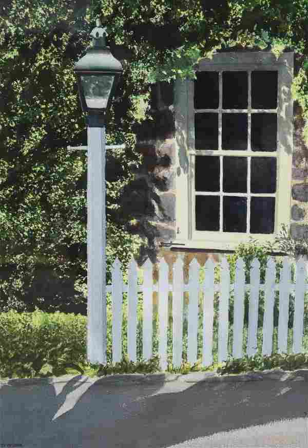 """Newnam, Thomas A., watercolor """"Hagley First Office with"""