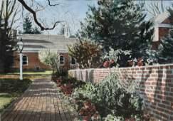 "Newnam, Thomas A., watercolor ""Old Presbyterian Church,"