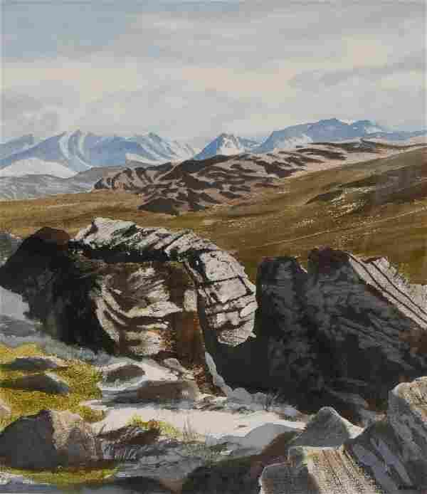 "Newnam, Thomas A., watercolor ""Macgillycuddy's Reeks"""