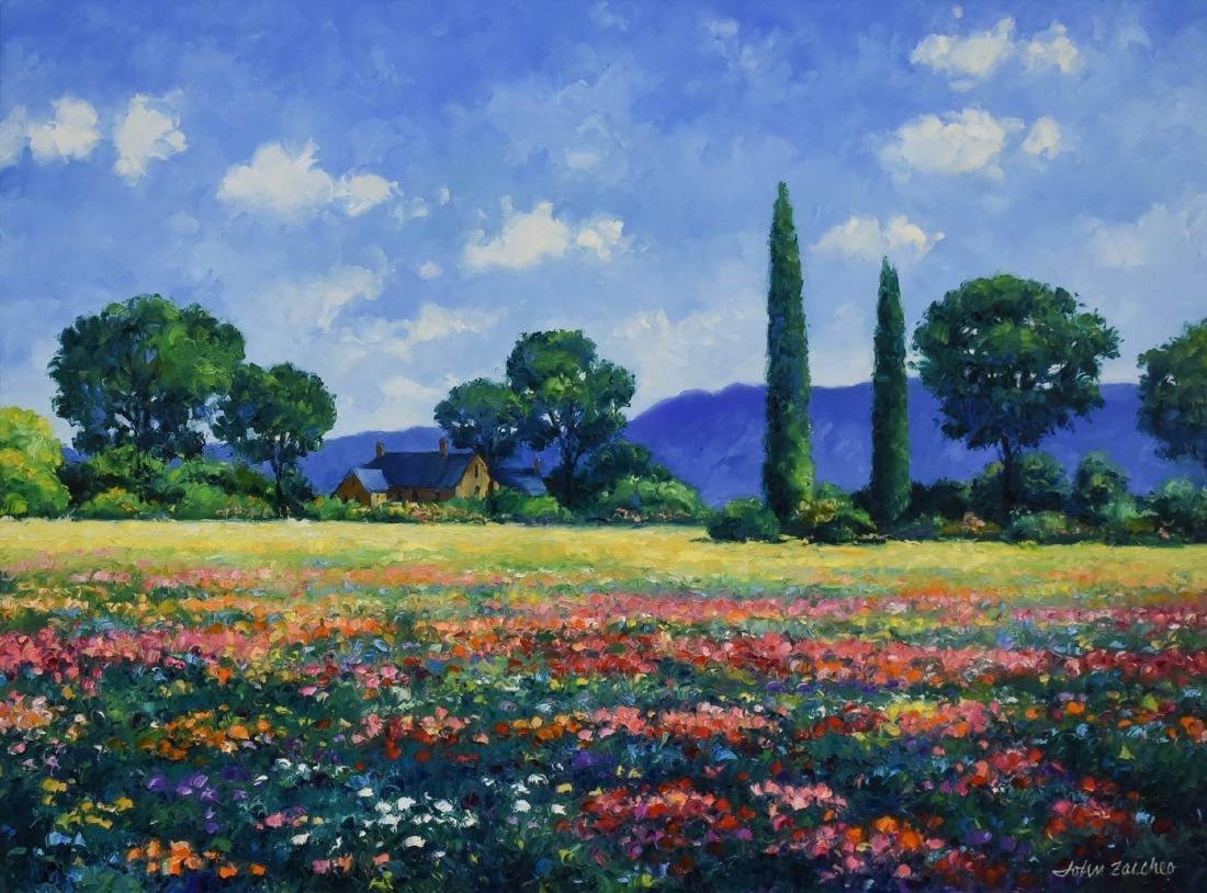 """Zaccheo, John, oil on canvas """"Sunlit Meadow"""""""