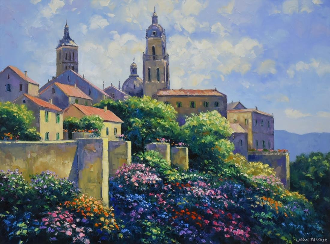 """Zaccheo, John, oil on canvas """"Afternoon Light at"""