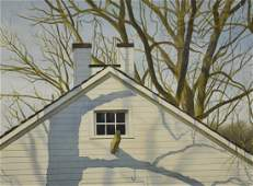 """Newnam, Thomas A., watercolor """"White Barn with Tree"""