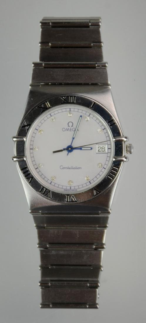 Omega Constellation Watch with Diamond Face Numerals