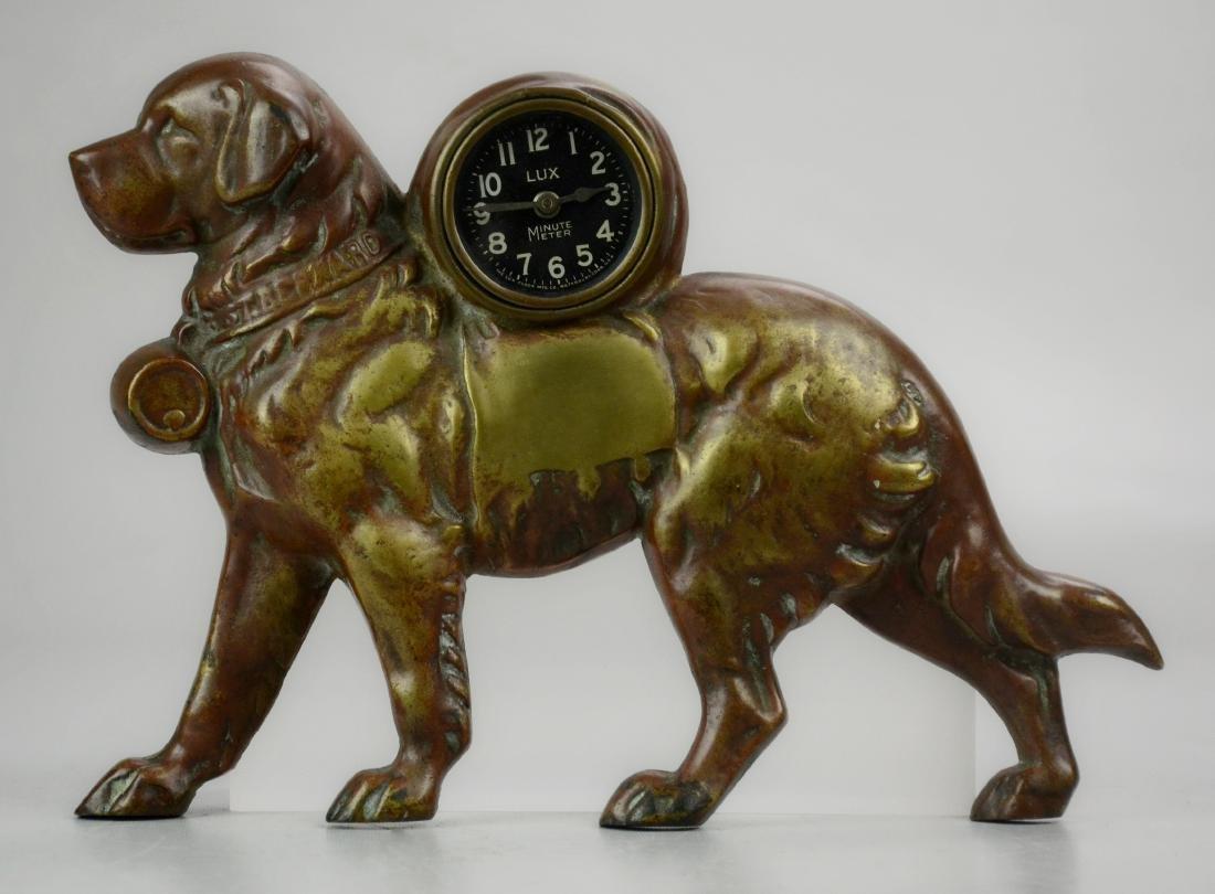 Lux Novelty Clock, St Bernard