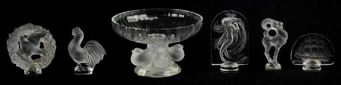(6) Pcs Lalique Crystal